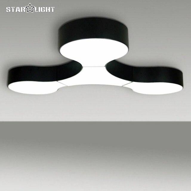 Moderne plafondlamp massive project gratis combinatie lampen Zwart ...