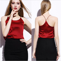 New Summer Tank Top Women Sexy Sleeveless V Neck Silk Basic Tops Blusas Casual Plus Size Vest Camisole Women Crop Tops  XD3834