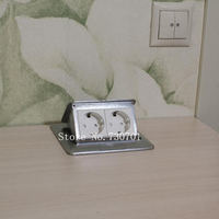 New And High Quality 2 EU Power Table Socket Floor Socket Pop Up Socket Can Hide