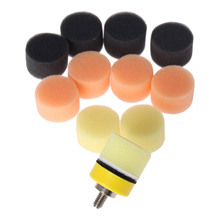 DRELD 50Pcs 1inch 25mm Sponge Waxing Buffing Polishing Pad for Car Polisher M6 Backer Plate For Dremel Rotary Tool