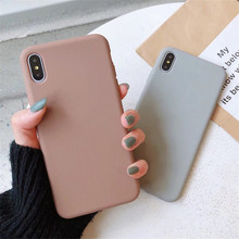 For iPhone 7 Fashion Matte Candy Pure Color Cases
