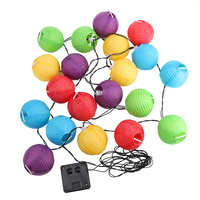 20 Leds Multicolor Lantern Ball String Lights Outdoor Solar Lamp Fairy Globe Decorative Max Party String