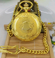 classic vintage gold  shield pocket watch with chain wholesale good quality low price