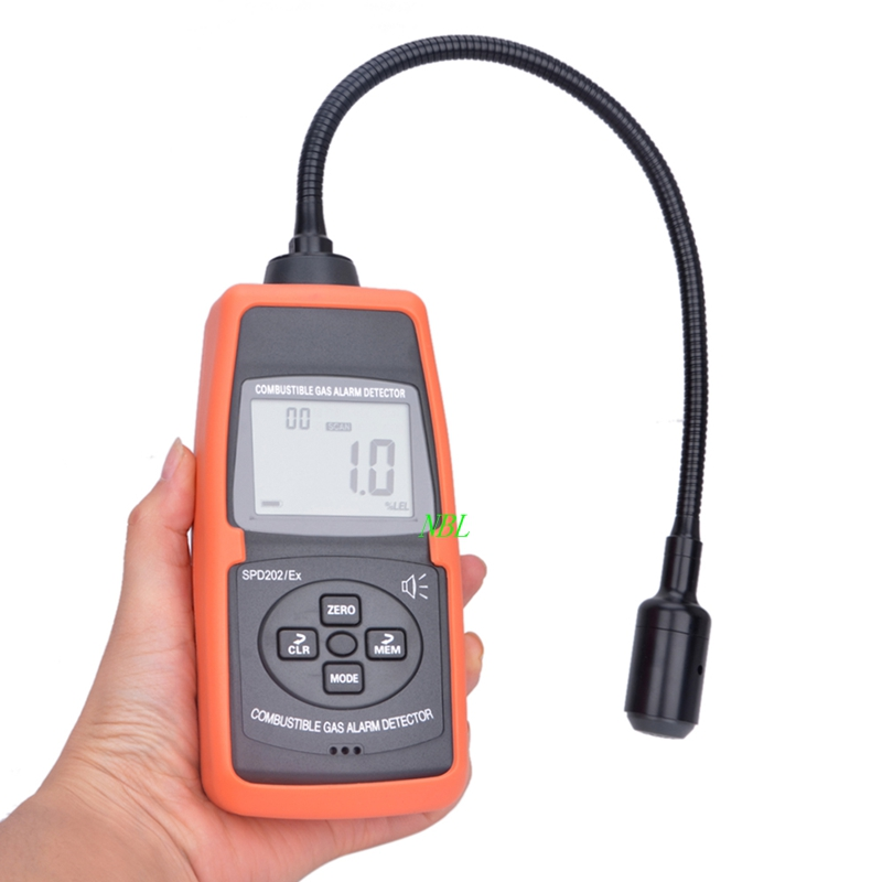 Professional LCD Digital Combustible Gas Detector 50 50000ppm Gas Alcohol Ketone Leak Tester With Slim Goose