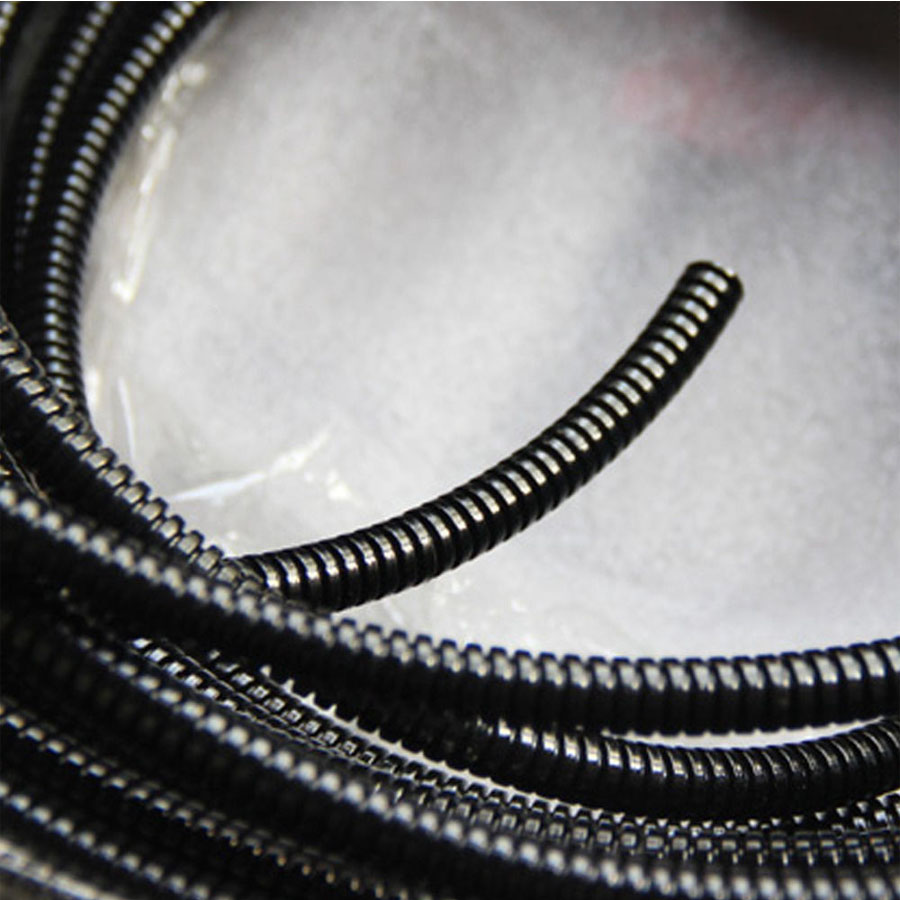 16.5\' Length Split Loom Tubing Inner Dia 8mm Plastic Flexible Pipe ...