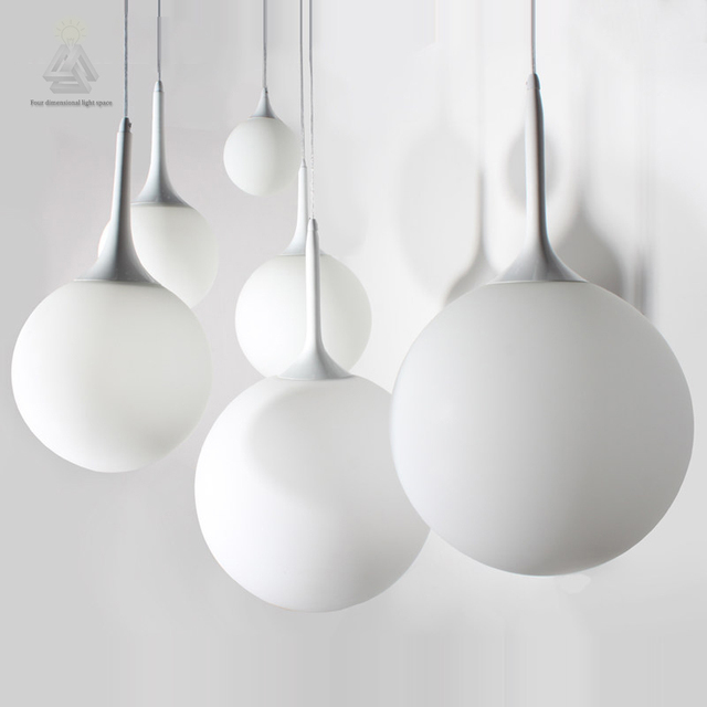 Nordic Globe Pendant Lights White Gl Ball Lamp Re Suspension Kitchen Light Fixture Lighting Lamparas