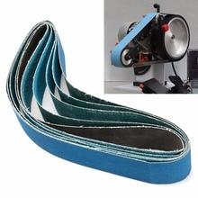 5pcs 915mm*50mm Mixed Grit Linishing Sanding Belts Zirconia 40# 60# 80# 120#