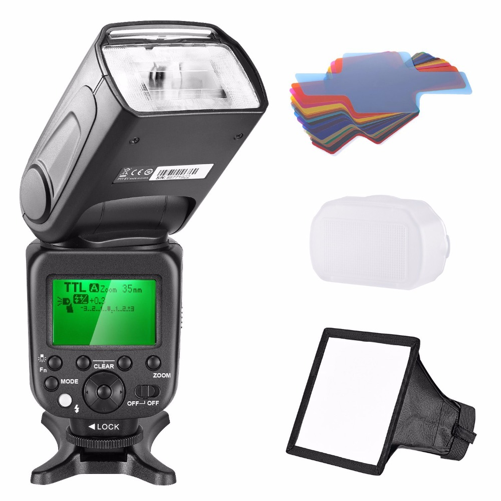 Neewer 2.4G Wireless 1/8000s HSS TTL Master Slave Flash Speedlite Kit for Sony neewer 2 4g wireless 1 8000s hss ttl master slave flash speedlite kit for sony