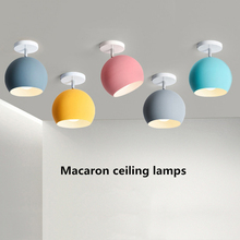 Macaron multicolor Modern E27 Rotatable LED Ceiling Lamp Iron Ceiling Spot Light  Indoor Ceiling Wall Mounted Light for Aisle 2pcs industrial black e27 iron ceiling light adjustable ceiling spot light vintage ceiling mounted spot lamp lighting fixture