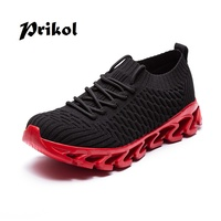 Prikol Fashionable Men Sneaker Running Breathable Sport Blade Trainer Shoes For Men's Krasovki Outdoor Cool High Quality