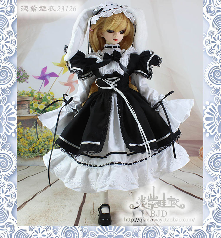 1 4 1 3 scale BJD Maid dress set for BJD SD clothing doll accessories Not