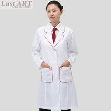 Medical uniforms white long sleeve medical scrubs women medical gowns ladies beautiful hospital uniform women clothing BB085