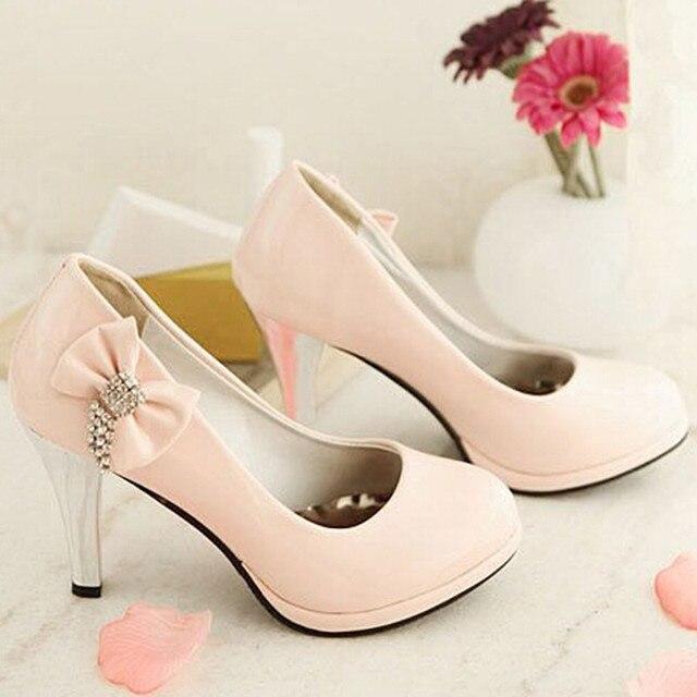 Горный хрусталь Лук 30 31 32 33 женские Двориков Обувь Настроить 40-43 Плюс Размер Высокие Каблуки Обуви