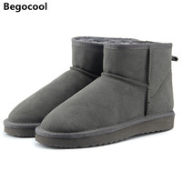 Begocool High Quality Australia Brand Winter Women S Snow Boots Cow Split Leather Ankle Shoes Woman