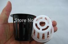 Бесплатная доставка 5 # B Сетка банк. чистая чашка для Гидропоники system-50pcs