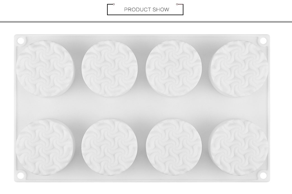 8 Hole Spiral Flower Cake Mold Silicone Molds for DIY Baking Dessert Mousse Kitchen Bakeware Tools Art Cake Form Tray Mould -2