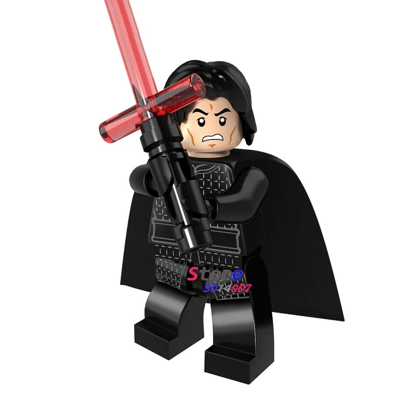 50pcs super heroes Ewok Kylo Ren The Force Awaken model star wars building block bricks for kits kid house games children toy