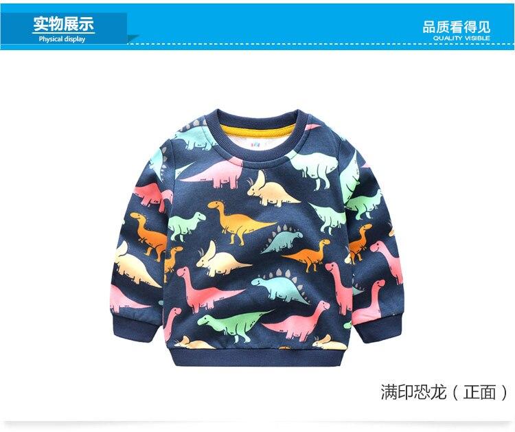 2018 Autumn Winter Warm 2-10 Years Old Children Long Sleeve Cartoon Animal Print School Baby Fleece Handsome Kids Boy Sweatshirt (9)