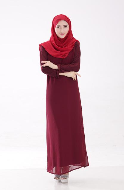 Hot sale new  casual High quality  muslim abaya abaya for women islamic dresses chiffon long sleeve turkish women clothing