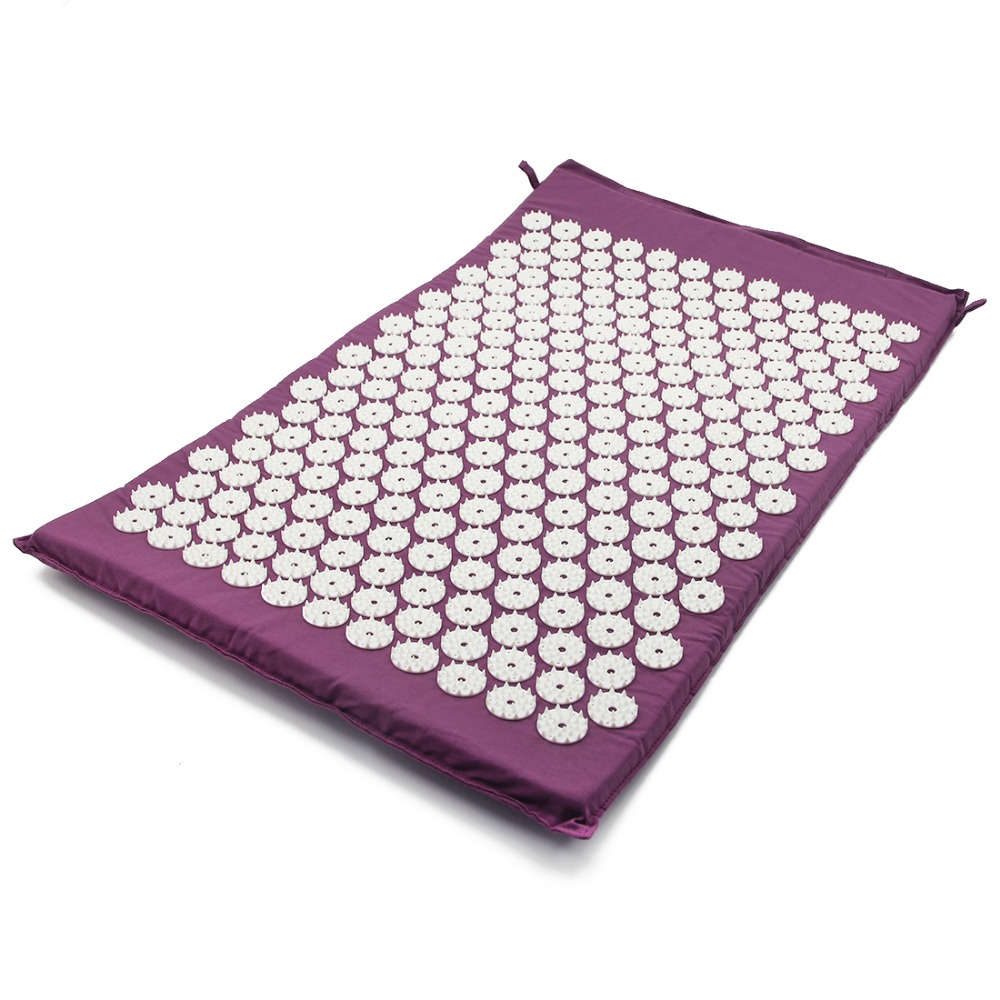 Massager Cushion Acupressure Mat Relieve Stress Pain Acupuncture Spike Back Body Massage Relieve Stress Tension Pain free shipping massager body massage cushion back neck care acupressure shiatsu massager relieve pain physiotherapy equipment