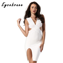 2017 New Arrival Eycebruee Evening Party Bodycon Bandage Dress Hollow Out Sexy Spaghetti Strapless Club Wear Mini DRESS Vestidos