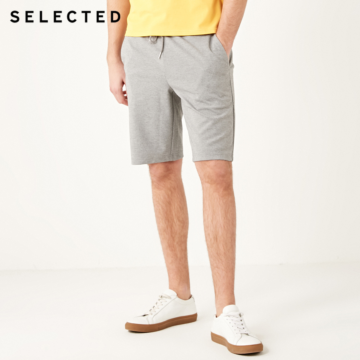 SELECTED Men's Spliced Straight Fit Shorts S|4192SH501