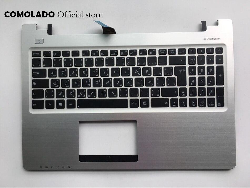AF Arabic French Keyboard For ASUS K56 k56C K56CB K56CM K56CA A56 A56C S56C S56 Top Cover Upper Case Palmrest AF Layout