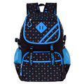 Lightweight fashion dot children's school bags for teenagers Wear-resistant nylon cartoon schoolbags for girls travel backpacks