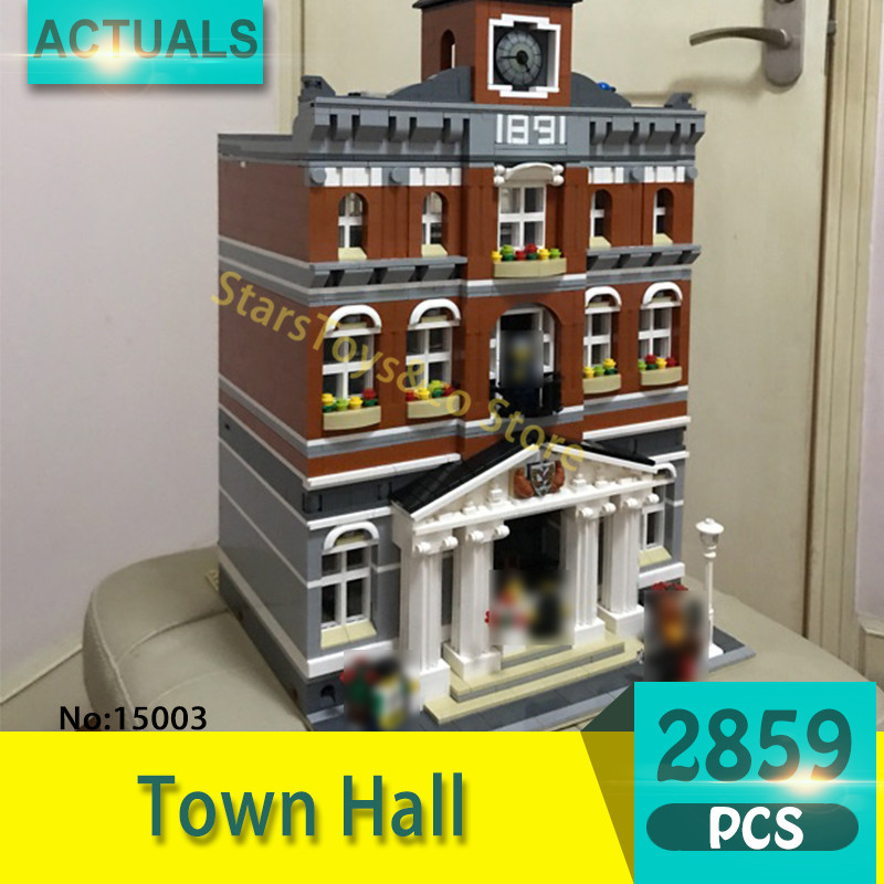 Lepin 15003 2859Pcs Street View series Town Hall  Model Building Blocks Set  Bricks Toys For Children Gift 10224 lepin 15003 2859pcs city creator town hall sets model building kits set blocks toys for children compatible with 10024