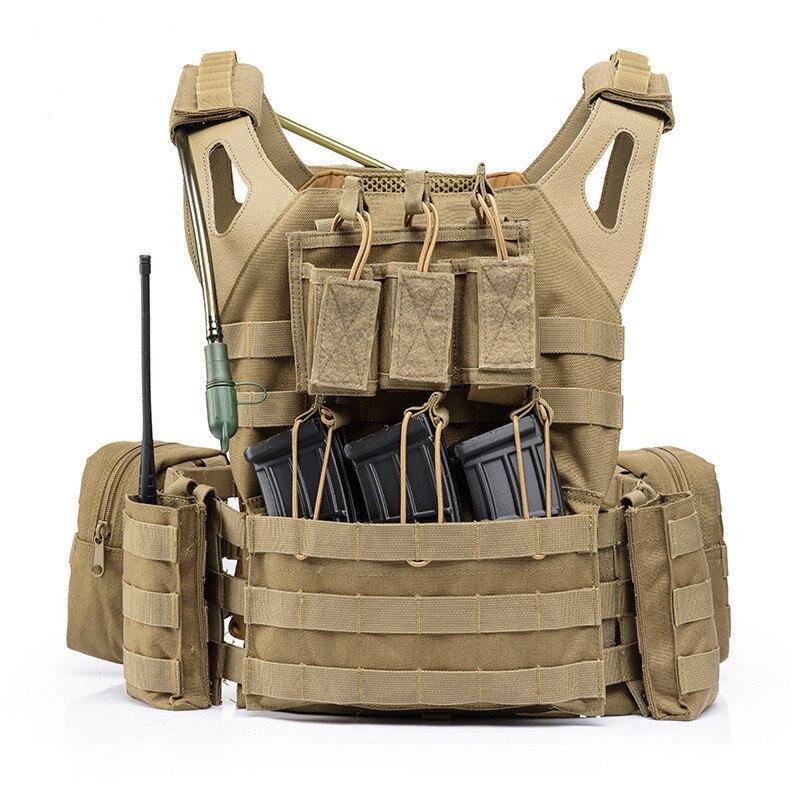 Ligero combate Molle sistema táctico chaleco al aire libre CS campo ejército entrenamiento tiro deportes proteger Chaleco con bolsa de agua - 4