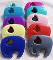 5pcs Silicone Teething Necklace Large Elephant Silicone beads Teething Chew Pendant