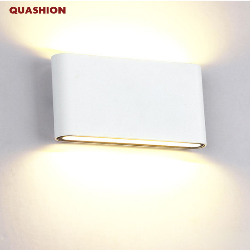 Modern Up Down Dual-Head indoor Outdoor Lighting Wall Lamps contract COB 6W 12W LED Wall Light IP65 Waterproof AC 85-265V