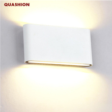 현대 최대 듀얼 헤드 실내 실외 조명 벽 램프 계약 cob 6 w 12 w led 벽 조명 ip65 방수 ac 85 265 v