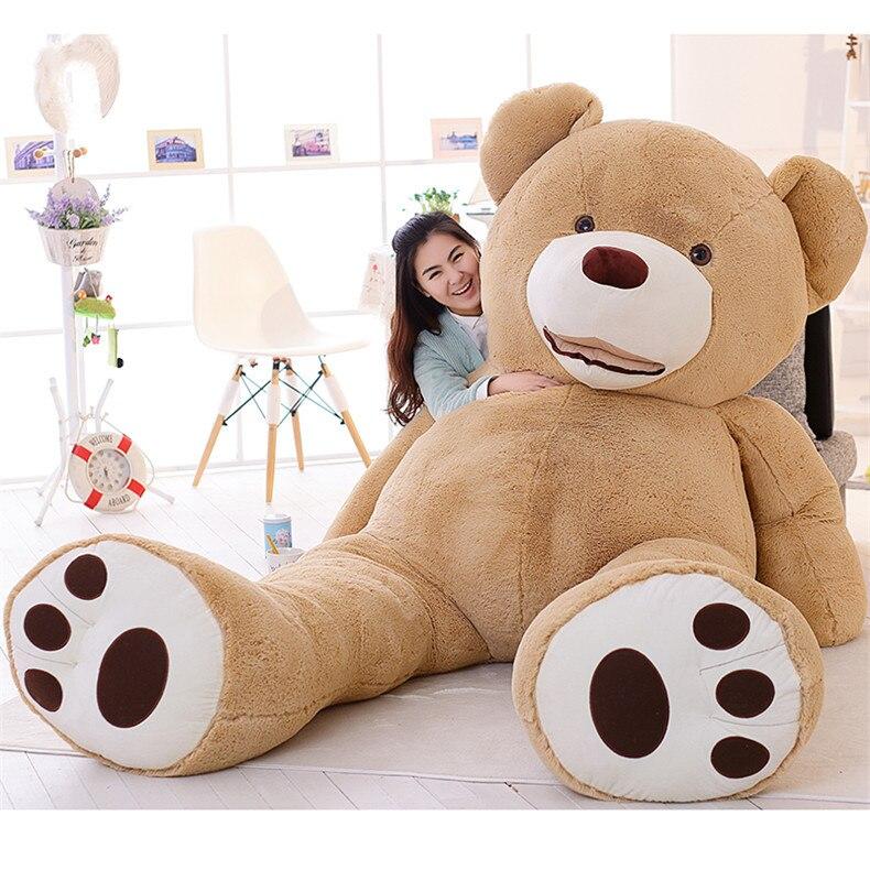 [Drôle] 260 cm énorme gros ours d'amérique en peluche ours en peluche couverture en peluche douce poupée oreiller couverture (sans trucs) bébé jouets