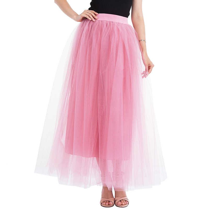 94bef364e9 ... 2018 New Arrival Puffy Maxi Skirt Tulle Skirt Long Elastic Womens High  Waisted Skirts Petticoat Bridesmaid