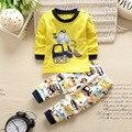 Новый малыш комплект одежды младенца девочка мальчик одежда с длинным рукавом футболка + брюки 2 шт. baby boy одежда для новорожденных набор