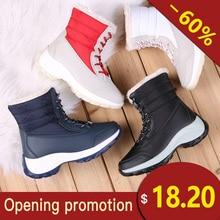 Купить с кэшбэком white winter boots women's fashion boots women's  new style  brand shoes women snow boots 2018 winter boots