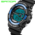 SANDA Famous Brands LED Digital Sports Watches Mens 30M Shock Waterproof Multifunction Men Wrist Watch Army Military Clock Man G