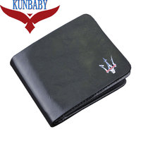 KUNBABY Top Quality Genuine Leather Black Document Bag Wallet Card Package Coin Holder Case For Maserati 1
