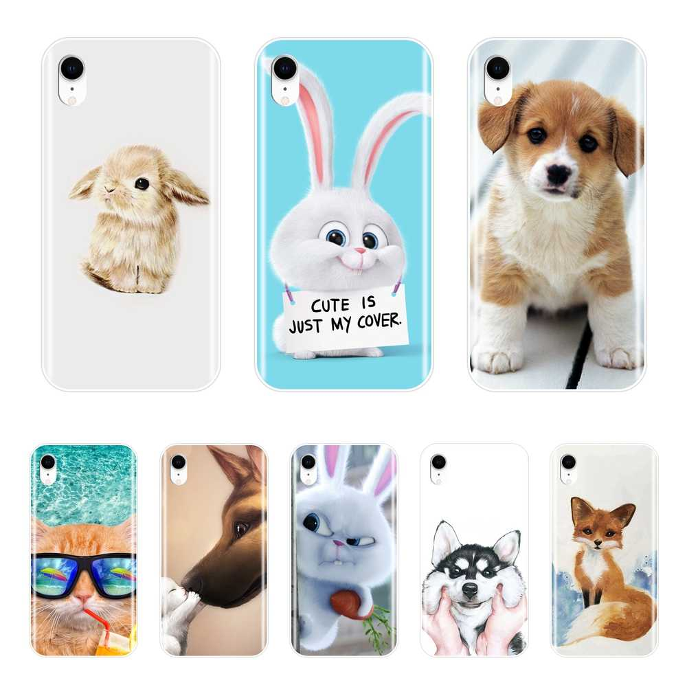 Cute Animal Patterned Phone Cases For iPhone 6 S 6S 7 8 X XR XS Max Soft Silicone Cover For Apple iPhone 8 7 6S 6 S Plus Case