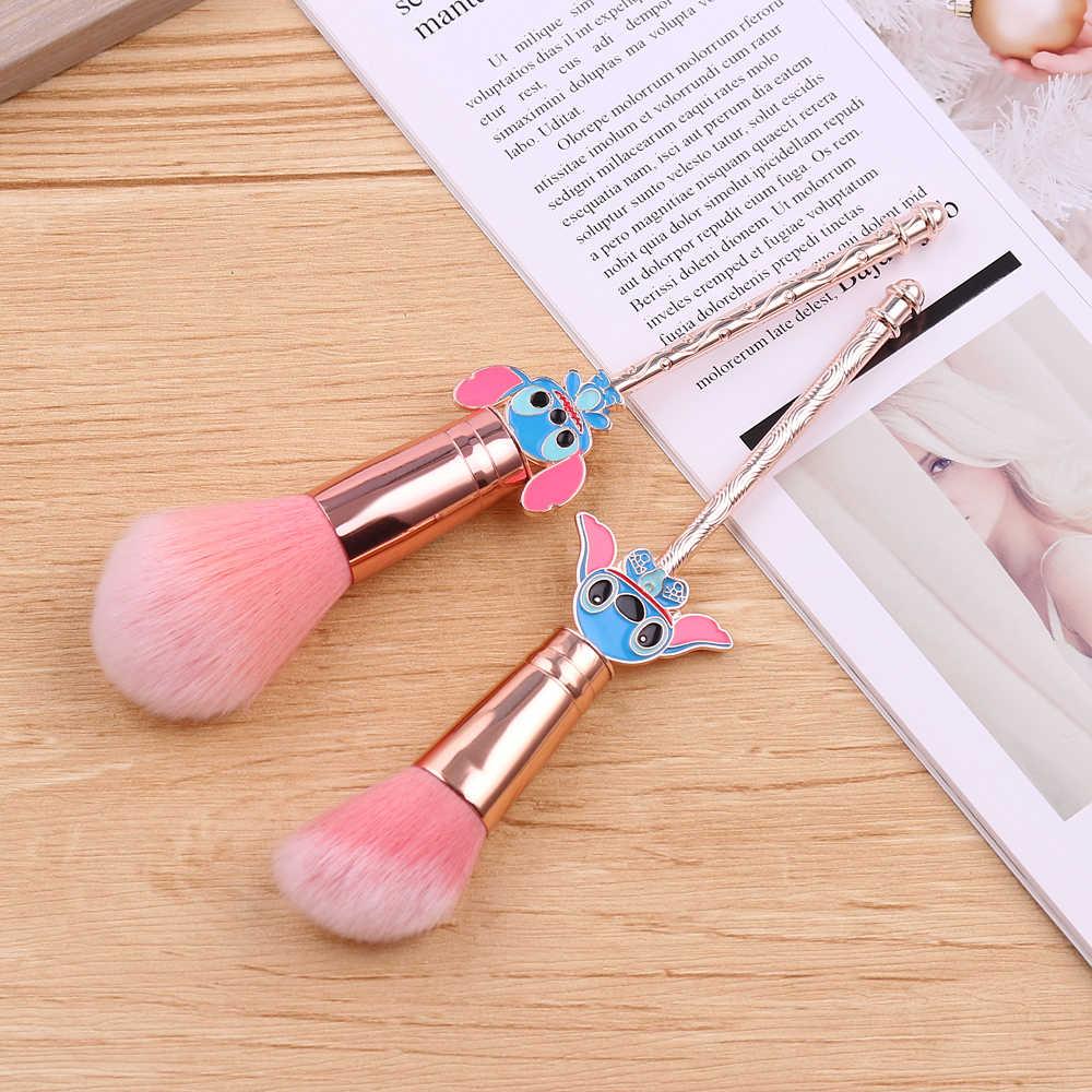 Милый стежок пудра румяна макияж кисти розовые кисти основа для волос инструмент для чистки Кисти Профессиональная Косметика, подарочная для веера