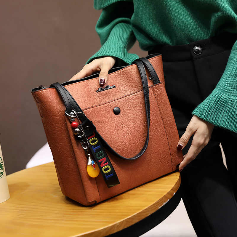 Wholesale women's bag fashion large capacity female shoulder diagonal tote bag 2019 brand crossbody messenger bags for lady girl