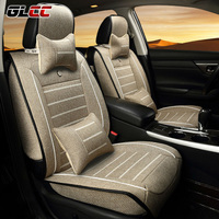 Universal Linen Car Seat Cover Fit for All Brand 5 seats car 9pcs/set with Cushion Seat Covers Set Four Season Car Accessories