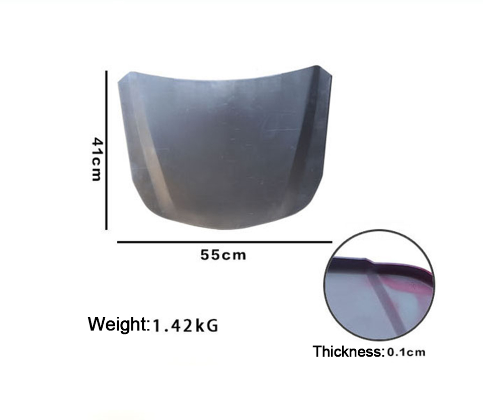 Image 4 - 55*41cm Metal Car Speed Shape Silver Car Bonnet Mini Hood For Vehicle Glass Coating Display MO 179E-in Car Stickers from Automobiles & Motorcycles