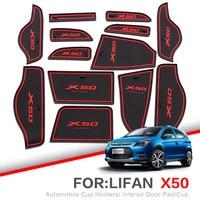 ZUNDUO Lifan X60 X50 2011-2015 Kapısı yuvası ped Otomobil Toz paspaslar Bardak Tutucular Araba Mat Anti Kayma  kaymaz KıRMıZı BEYAZ