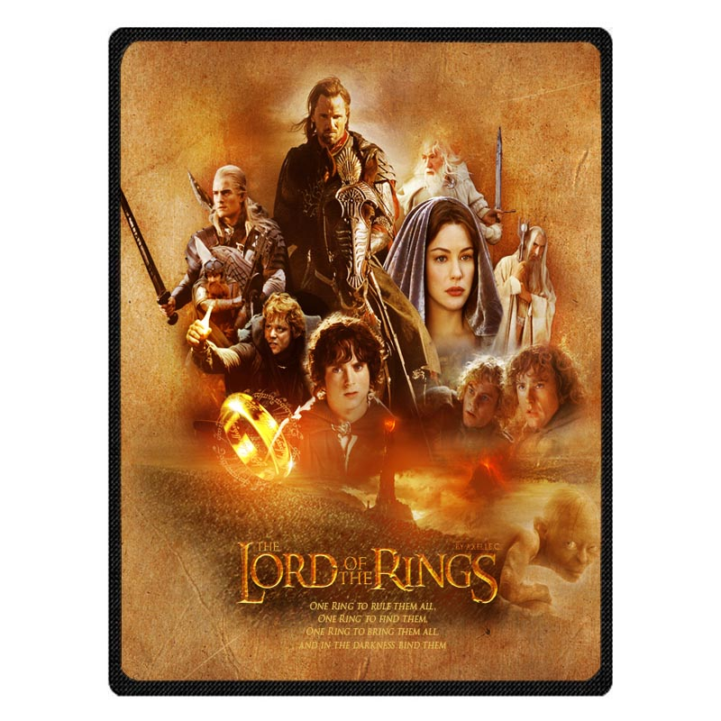Hot Sale The Lord of The Rings Pattern Blanket Super Soft Throw Fleece Blankets On The Bed Baby Winter Summer Bedspreads