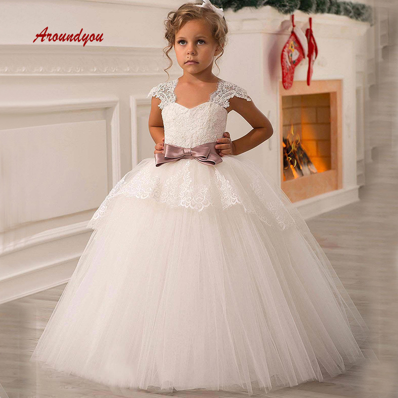 Lovely   Flower     Girl     Dress   for Party and Weddings Burgundy Lace Pageant First Holy Communion   Girls     Dress   for   Girls   Gown 2019