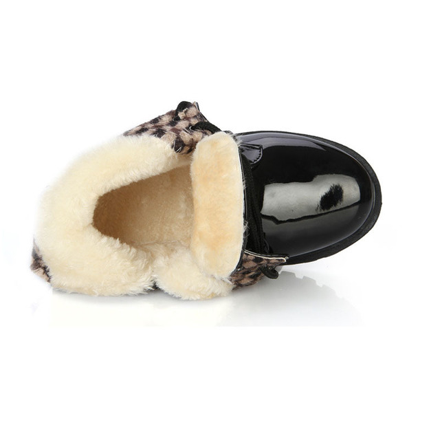 New Winter Children Shoes   Leather Waterproof