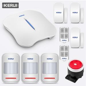 Image 1 - KERUI W1 Ansage Drahtlose WiFi PSTN Home Security Verknüpfung Alarm Anti theft Alarm System Kit mit Indoor Outdoor IP Kamera