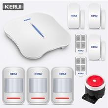 KERUI W1 instrucción de voz inalámbrica WiFi PSTN seguridad vínculo alarma Anti sistema de alarma antirrobo con Kit de cámara IP al aire libre